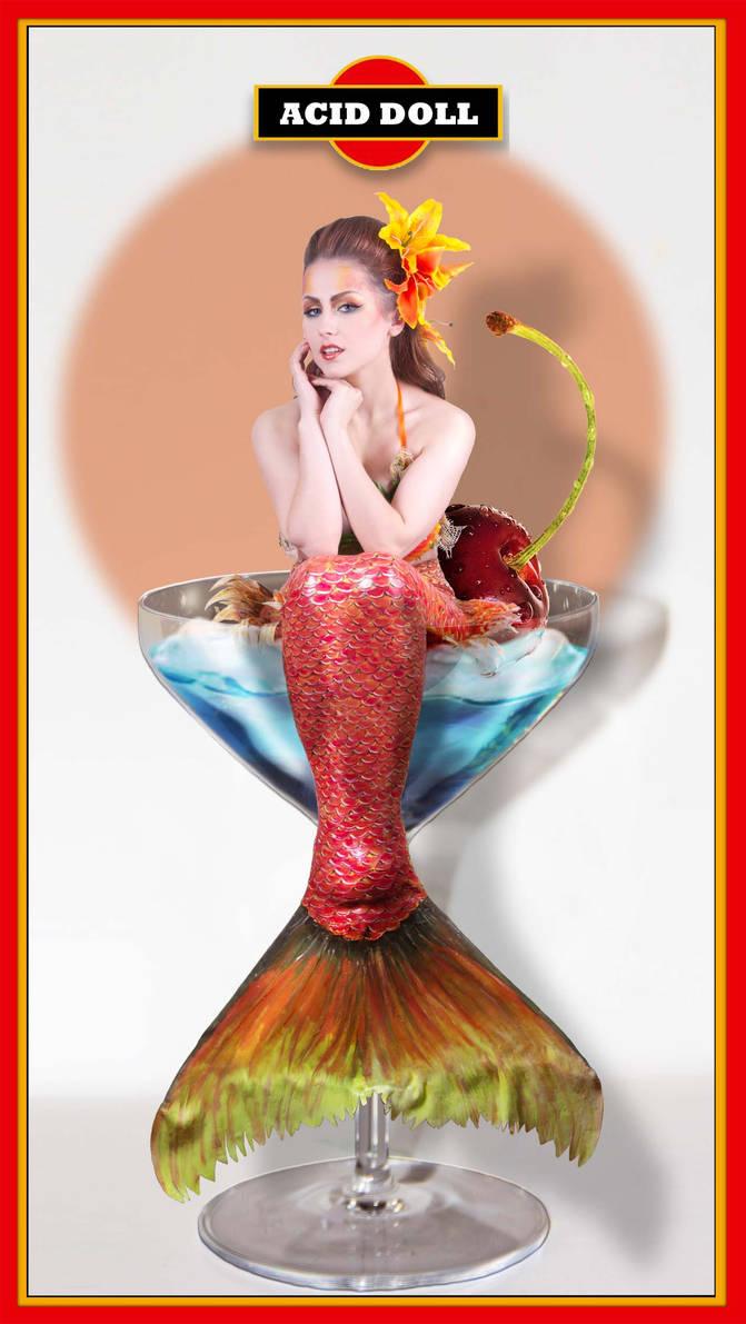martini mermaid-acid doll