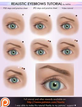 Realistic Eyebrows Tutorial