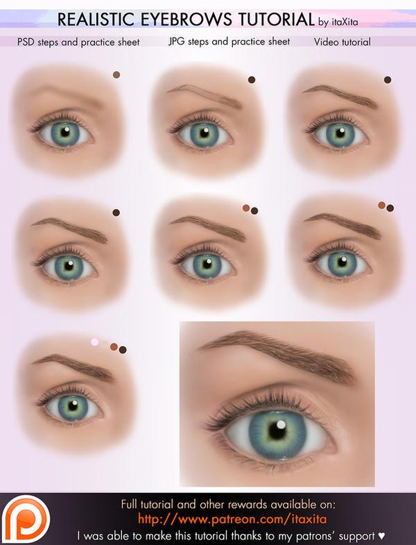 Realistic Eyebrows Tutorial by itaXita