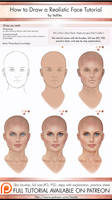 How to Draw a Realistic Face Tutorial by itaXita