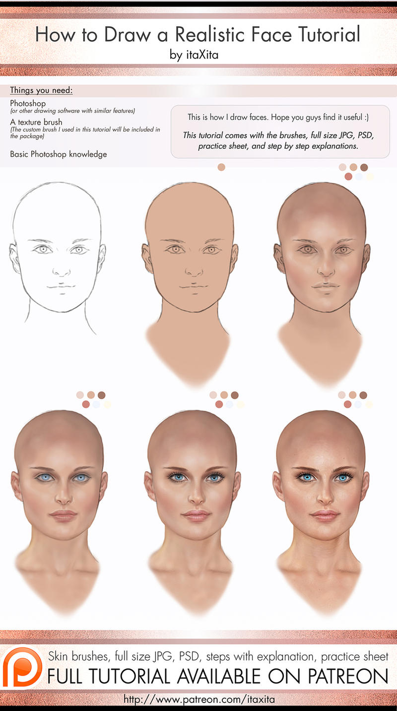 How to draw a realistic face tutorial by itaxita on deviantart ccuart Choice Image
