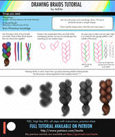 Drawing Realistic Braids Tutorial by itaXita