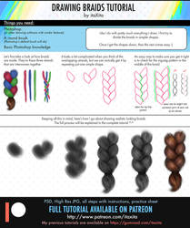 Drawing Realistic Braids Tutorial