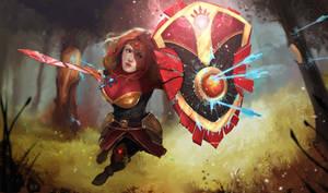 League of Legends fan art Leona by BTauciuc