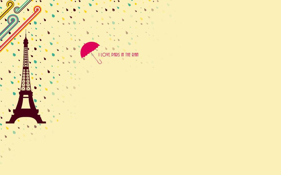 I Love Paris In The Rain II By Maginatif