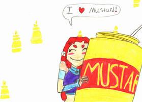 Starfire loves mustard by magnumkiyoshi