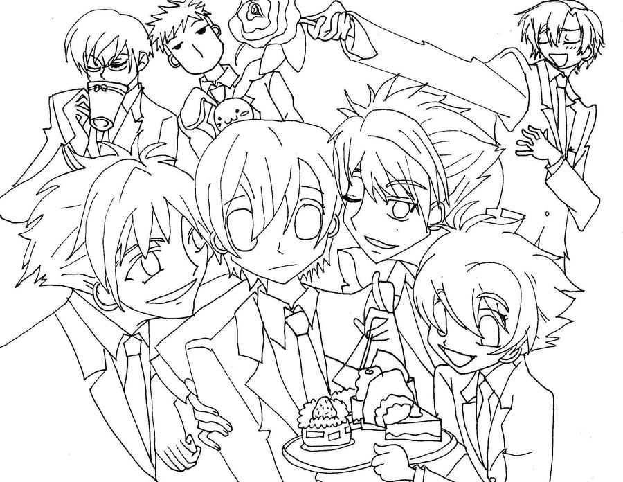 ouran highschool coloring pages - photo#7