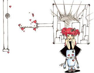 Steam Punk Girl and Robot by magnumkiyoshi