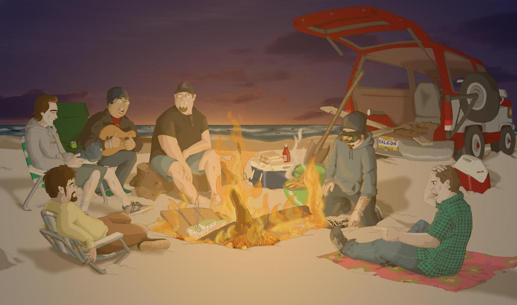 Las Noches de la Playa Oceano by panblanco37