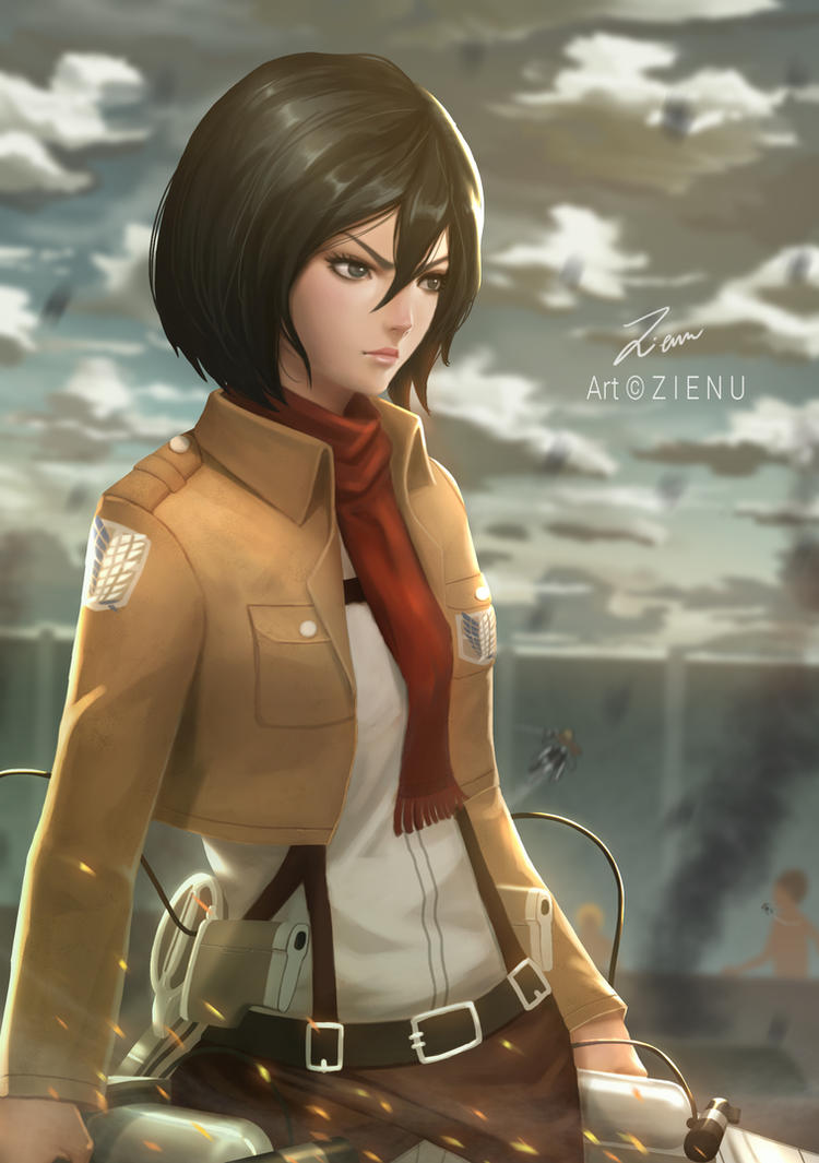 Mikasa Ackerman by Zienu