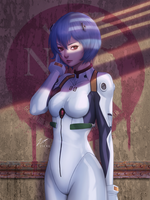 Rei Ayanami by Zienu