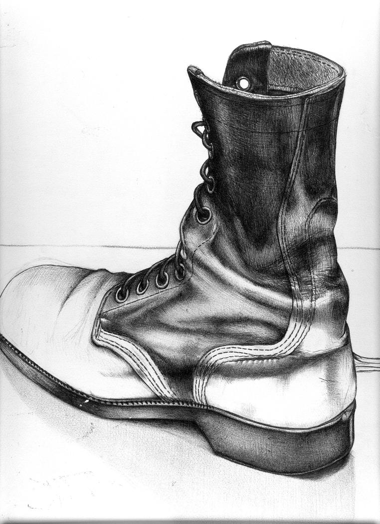 combat boot drawing by 5bodyblade on deviantart