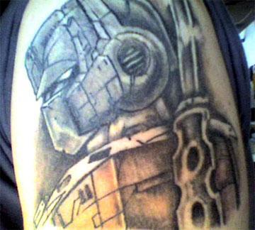 Optimus Prime tattoo - shoulder tattoo