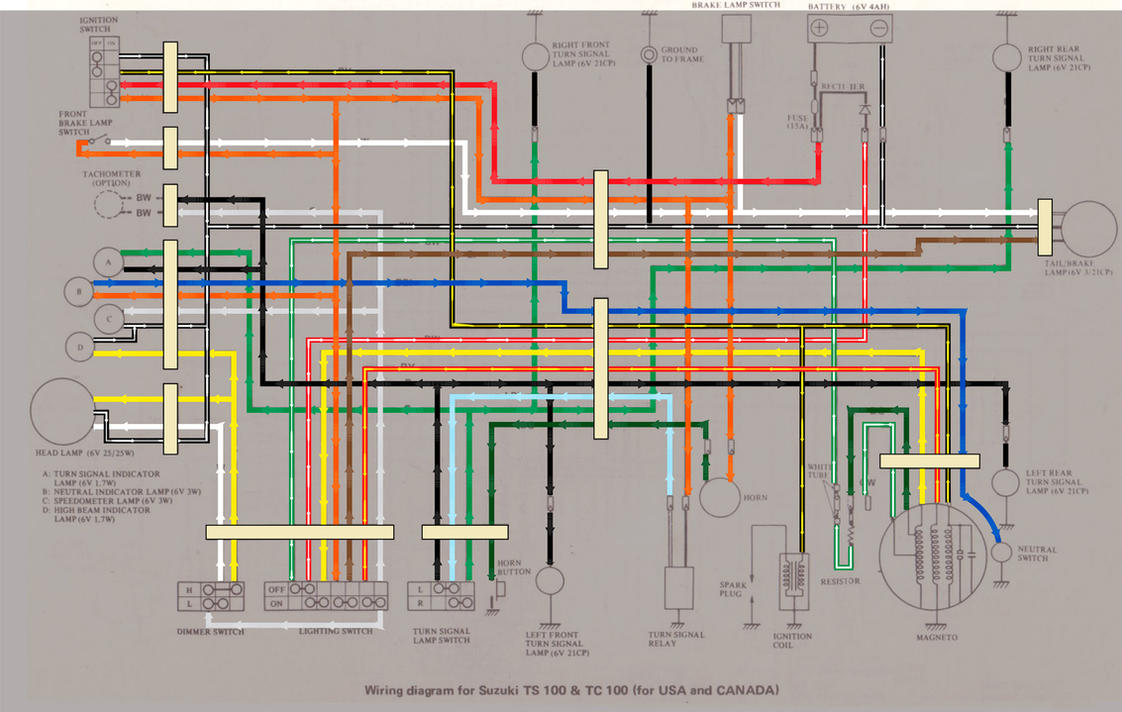 Suzuki Tc100 Wiring Diagram By 5bodyblade On Deviantart