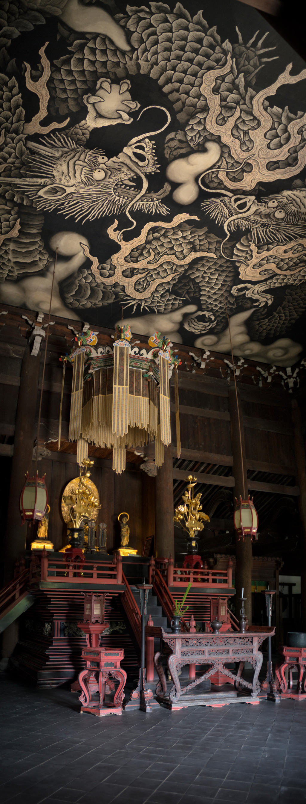 Twin Dragons Ceiling by 5bodyblade