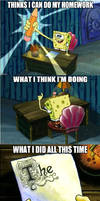 Spongebob Homework Meme: How I do my Homework