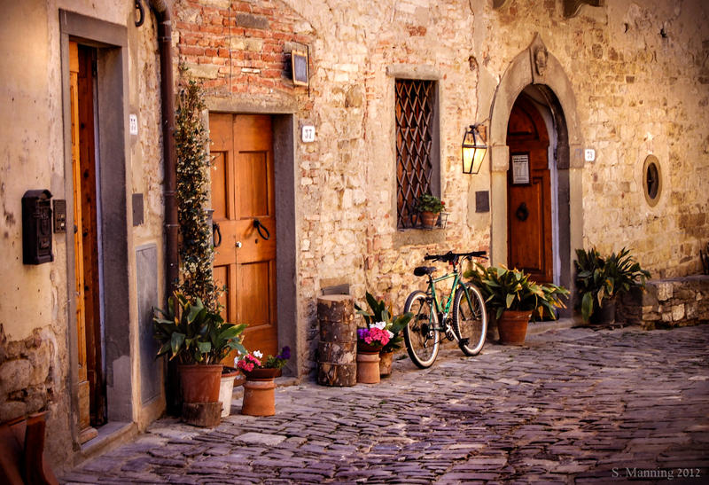 Street in Tuscany by rainyrose23