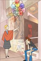 Femme, Garcon, Ballon