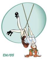 Girl on swing by Wenamun
