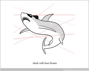Shark with laser beams