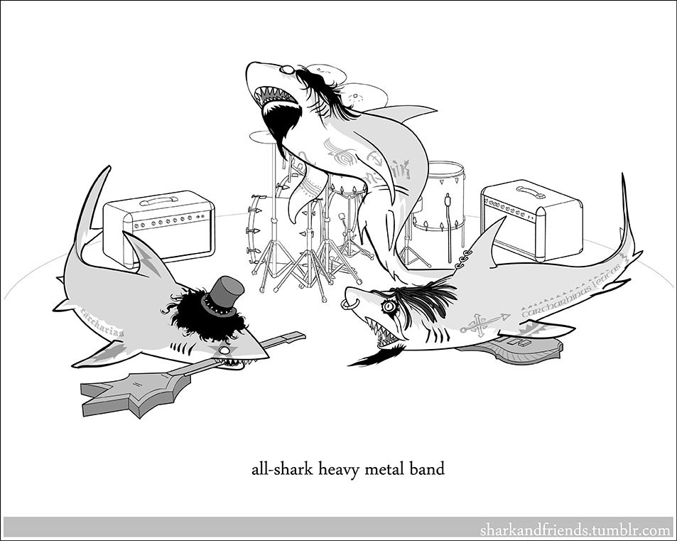 All shark heavy metal band by Wenamun