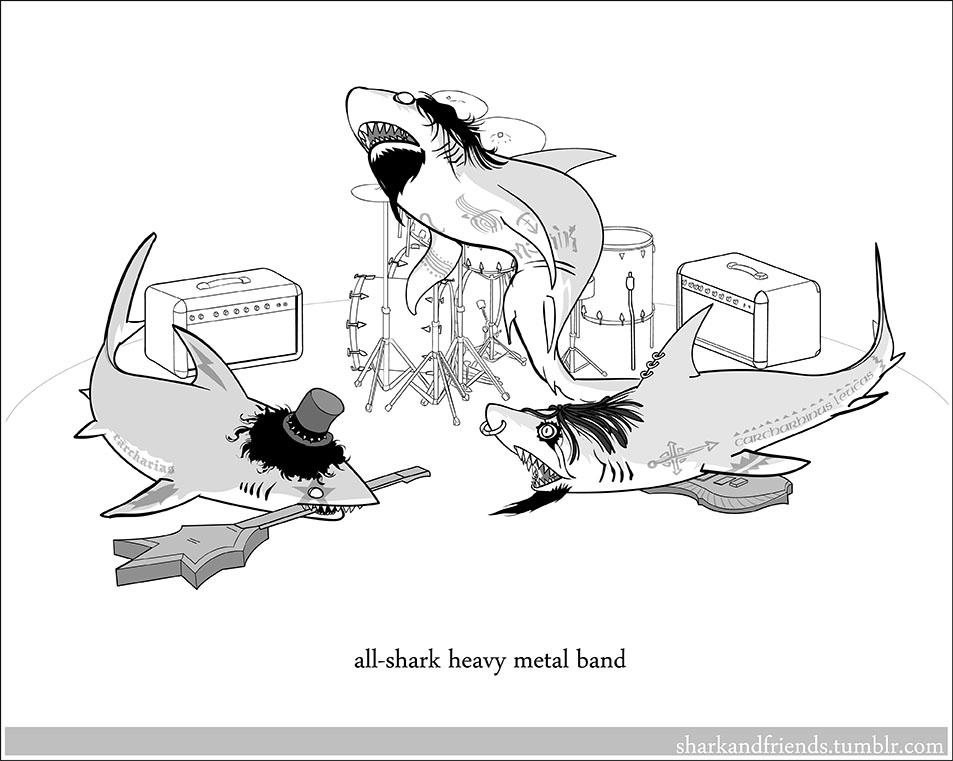 All shark heavy metal band by Wenamun