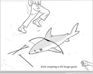 Shark Competing in the Hunger Games