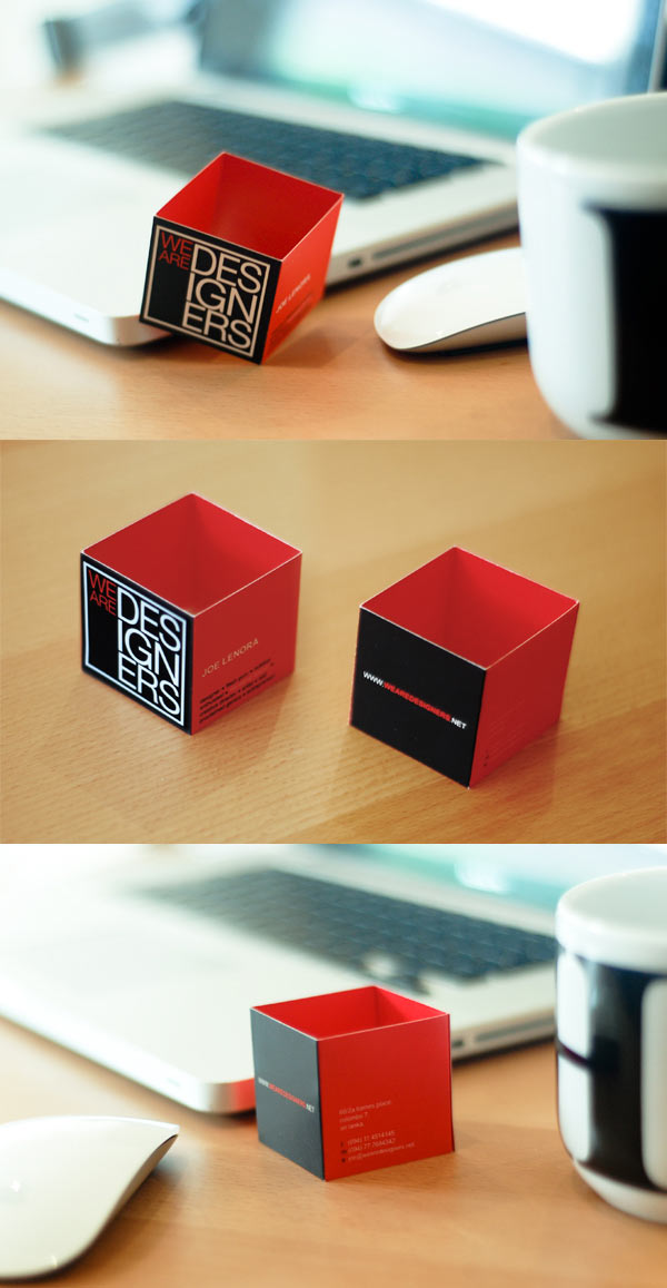We Are Designers Business Card