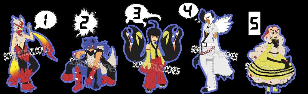Mega Gijinka Adopts (1 Left) by xXScarletStarletXx