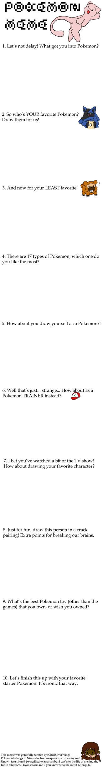 Pokemon Meme by ChibiSilverWings