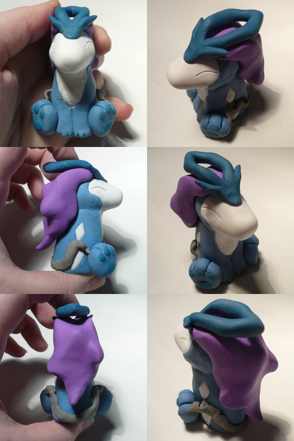 Chibi Suicune by ChibiSilverWings