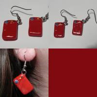Pokedex Earrings by ChibiSilverWings