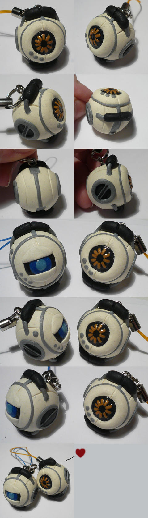 Space Core and Wheatley by ChibiSilverWings