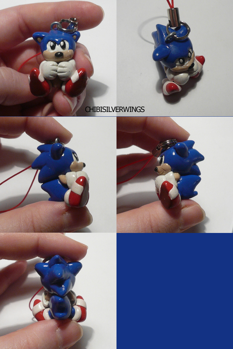 Sonic 'Classic' Cellcharm by ChibiSilverWings