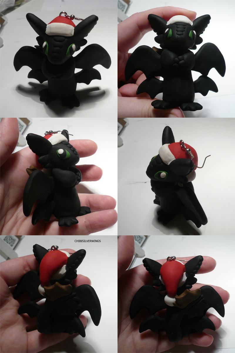 X-Mas Toothless Ornament by ChibiSilverWings