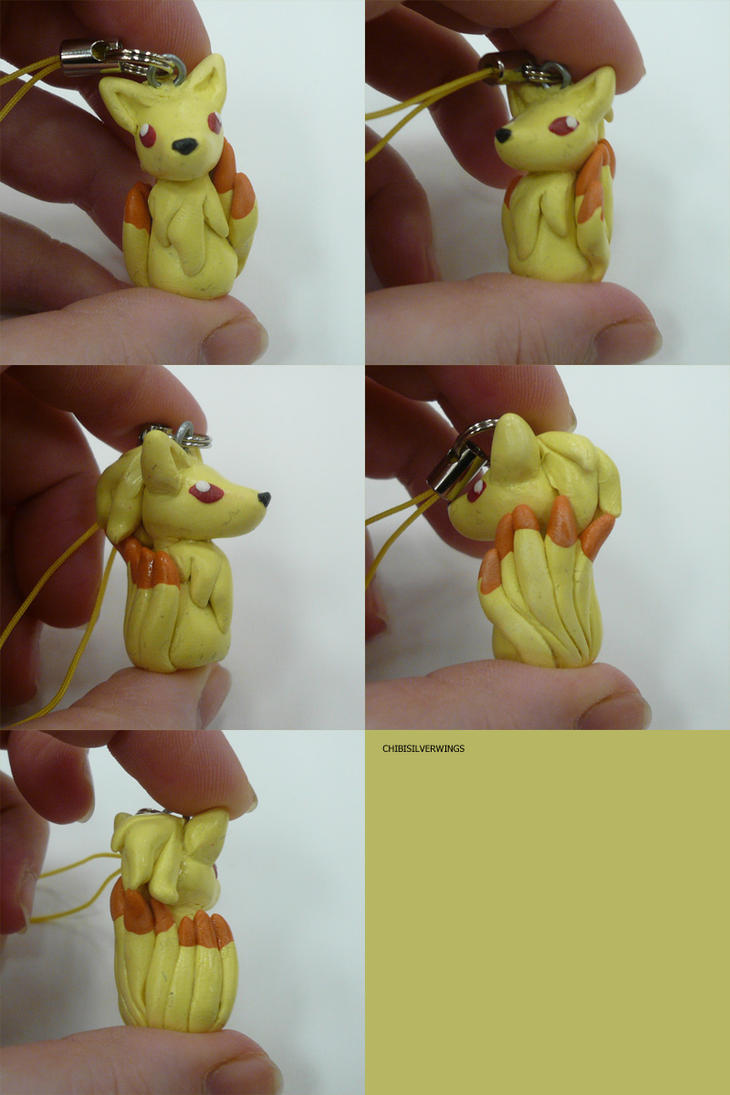 Ninetales Charm by ChibiSilverWings