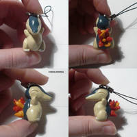 Cyndaquil Charm by ChibiSilverWings