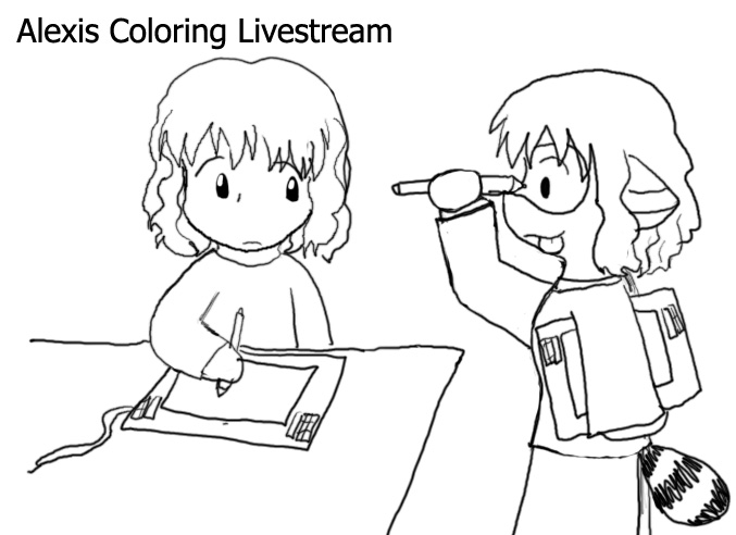 Alexis Coloring Livestream by ChibiSilverWings on deviantART