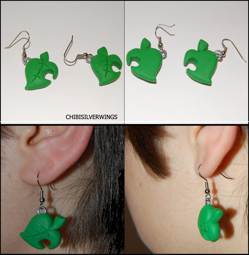 Animal Crossing Tom Nook Earrings by ChibiSilverWings