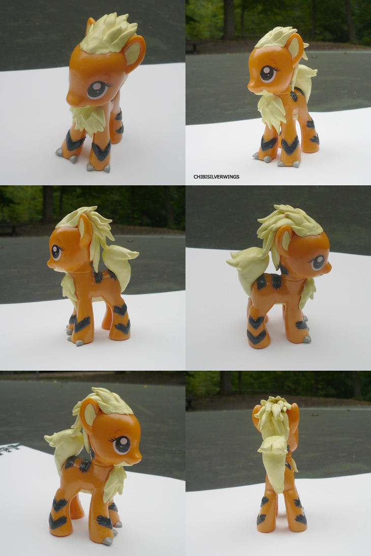 Growlithe Ponymon by ChibiSilverWings
