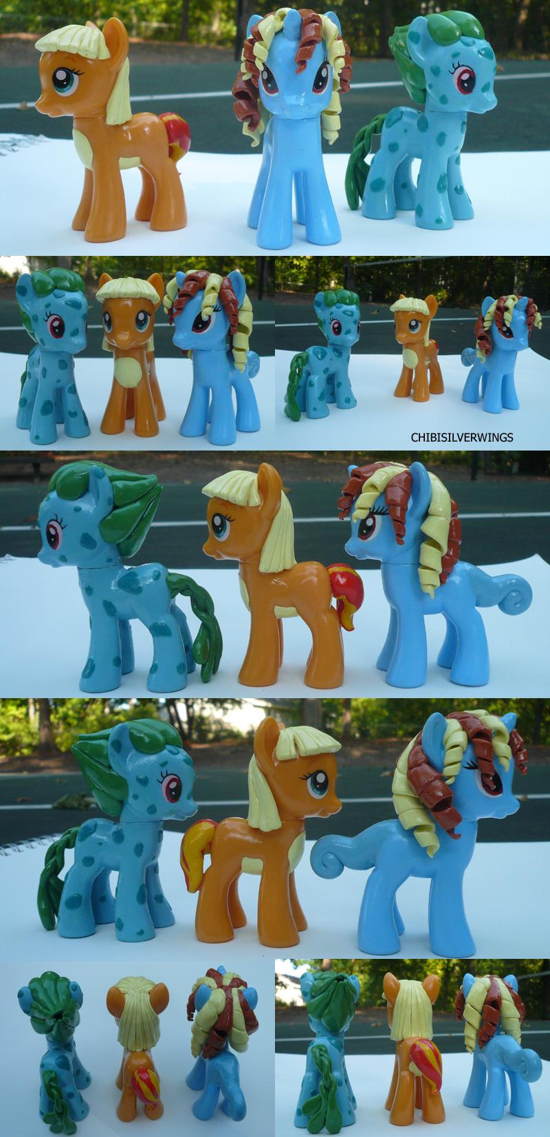 Gen 1 Starter Ponymons by ChibiSilverWings