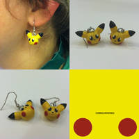 Pikachu Earrings by ChibiSilverWings