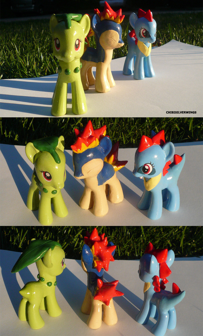 Gen 2 Starter Ponymon by ChibiSilverWings