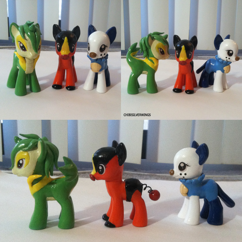Gen 5 Starters Ponymon by ChibiSilverWings