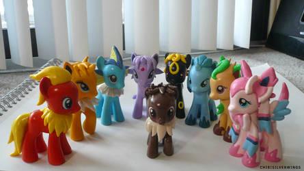 Eeveelution Ponymons Group by ChibiSilverWings