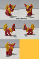 Flareon Figure by ChibiSilverWings