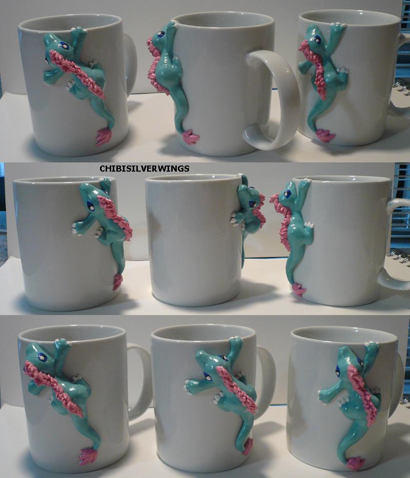 Petal Baby Basilisk Mugs by ChibiSilverWings