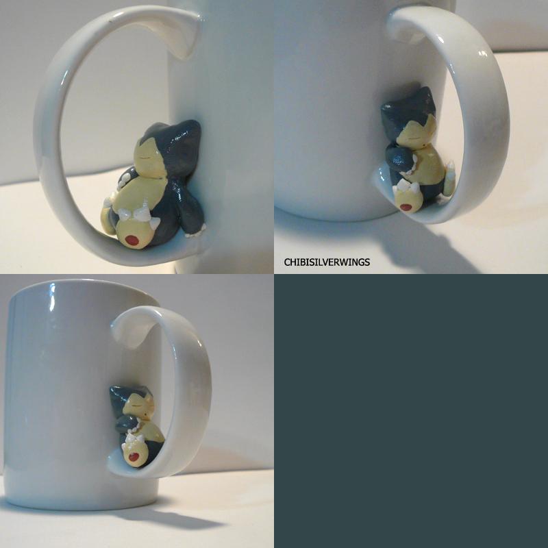Snorlax Mug by ChibiSilverWings