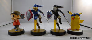 First Amiibo Custom Set by ChibiSilverWings