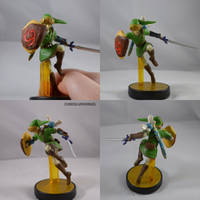 Link Deku Shield And Navi Amiibo by ChibiSilverWings